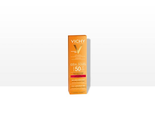 Anti- Edad  3-in-1 antioxidante SPF 50